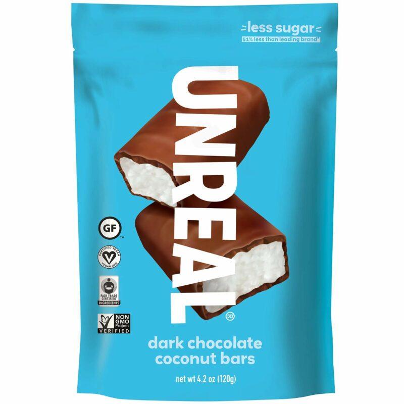 UNREAL Bitter Çikolata Hindistan Cevizi Barları