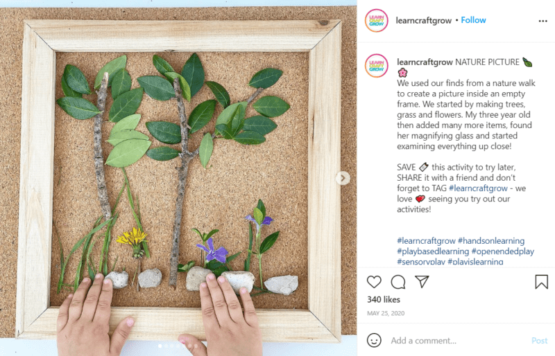 Still of use loose parts for learning and creating a habitat from Instagram