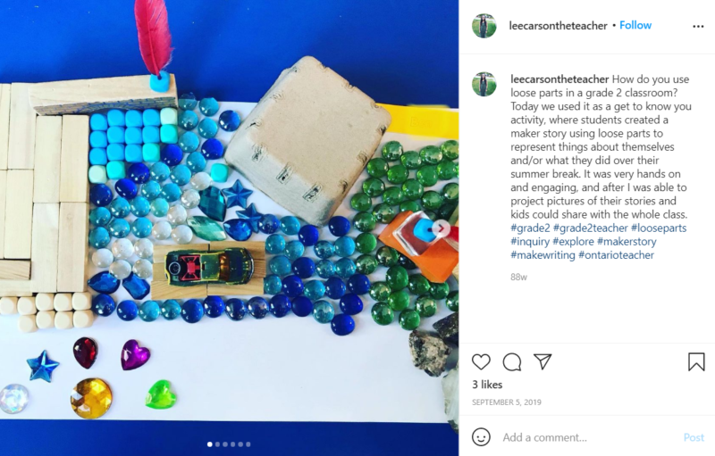 Still of use loose parts for learning as a tool for sharing from Instagram