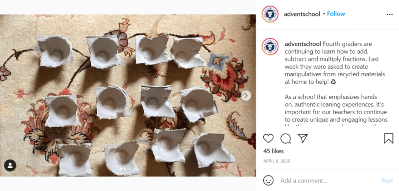 Still of use loose parts for learning math manipulatives from Instagram