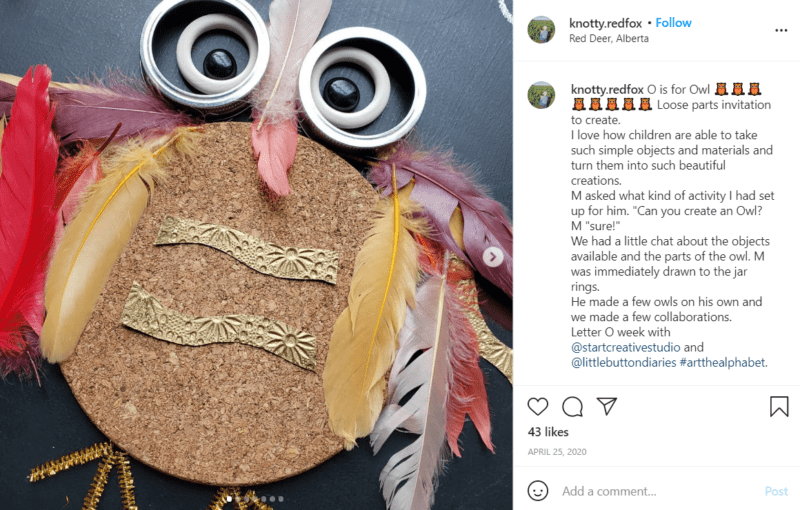 Still of use loose parts for learning to create editable artwork from Instagram