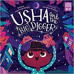 Book cover for Usha and the Big Digger as an example of opinion writing mentor texts