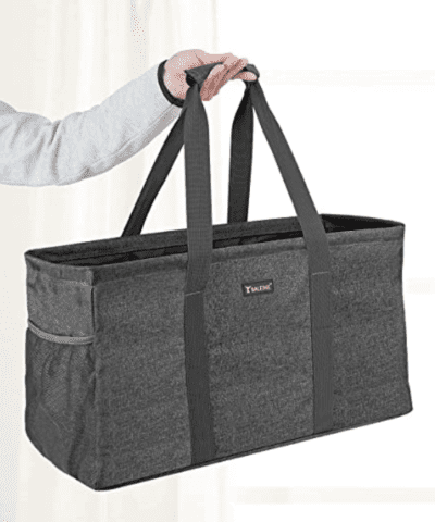grey large utility tote