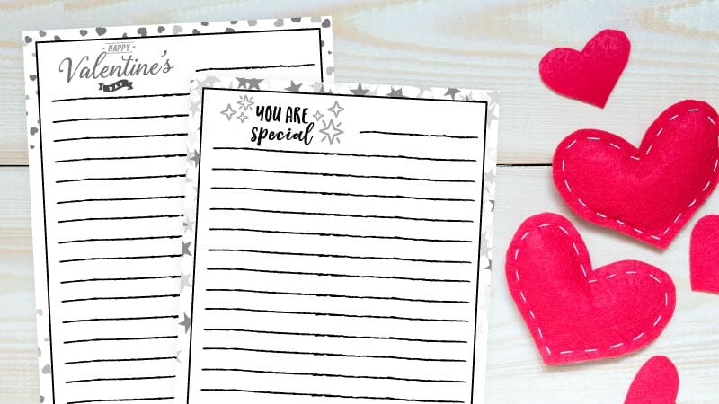 Valentine's Day paper and writing prompt ideas for students