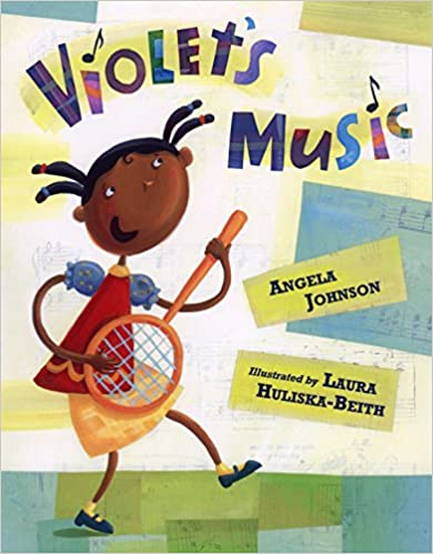 Book cover for Violet's Music as an example of children's books about music