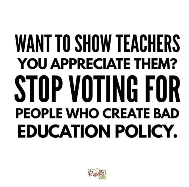 Stop voting for people creating bad education policy