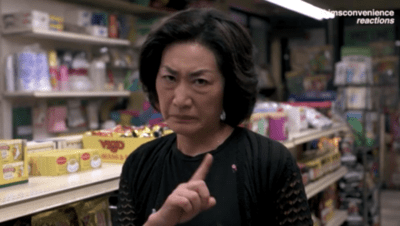wagging finger Kim's Convenience show