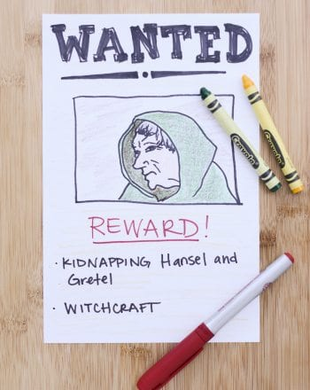 WANTED poster -- 2nd grade reading comprehension