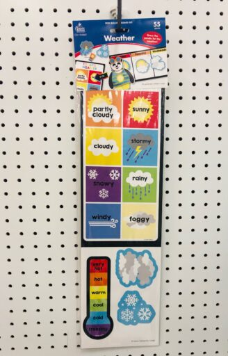 55 piece weather bulletin board set from Target