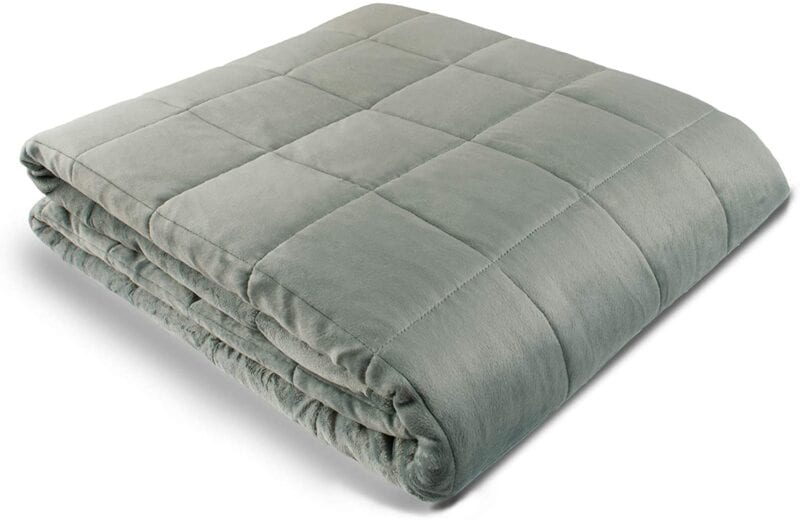 Gray weighted blanket -- best graduation gifts for students