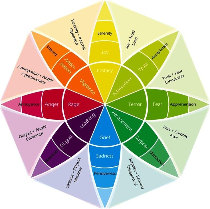 Example of emotion wheel.
