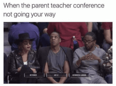 When the parent teacher conference does not go your way