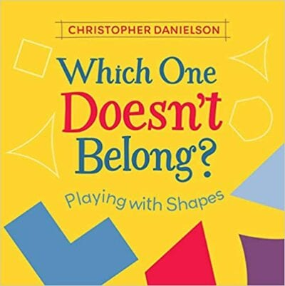 Book cover for Which One Doesn't Belong as an example of books about math for kids