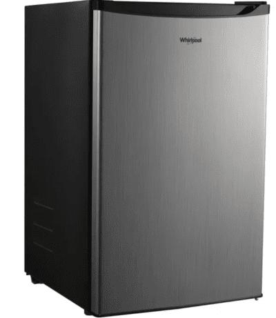 Whirlpool stainless 4.3 cu ft mini fridge for classroom