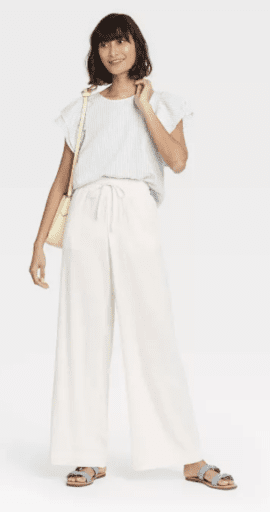 White wide leg pants from Target