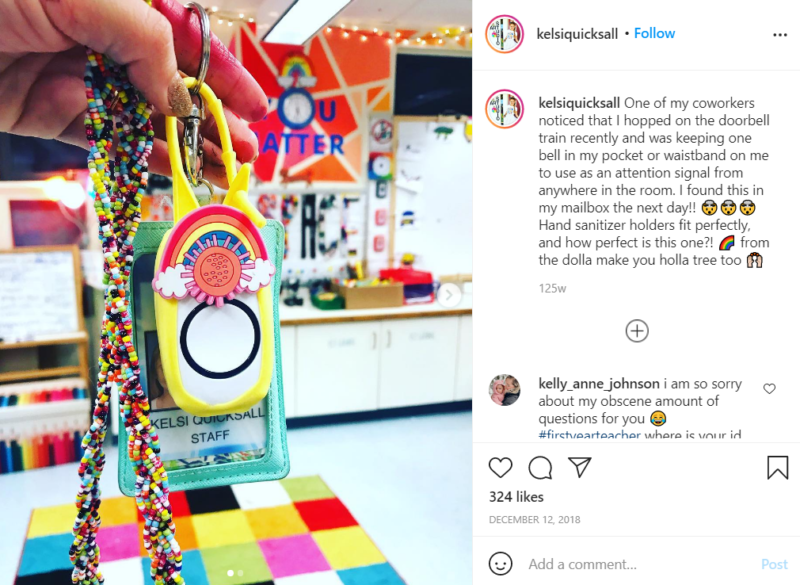 Still of wireless classroom doorbells can show off your personality from Instagram