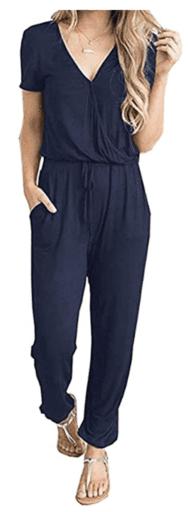 Women's navy jumpsuit