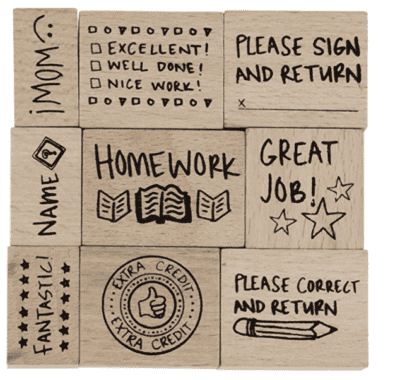 Wooden teacher stamps