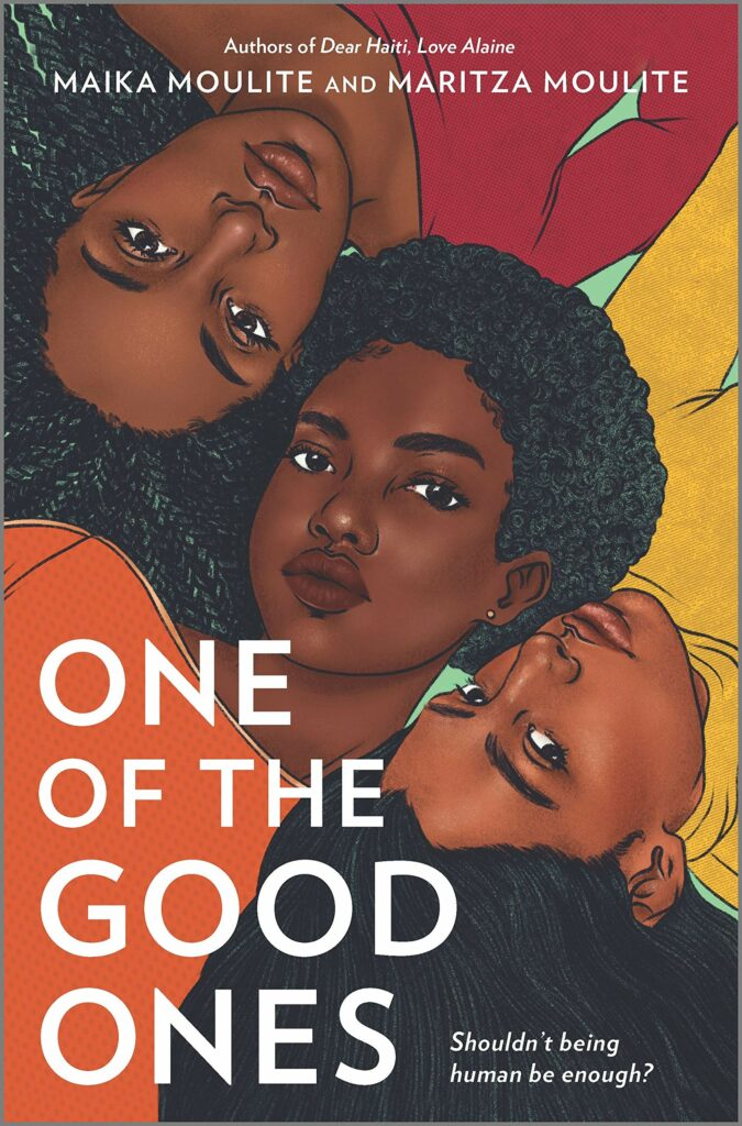 Cover of One of the Good Ones Black sisters in yellow, orange, and red shirts YA books list